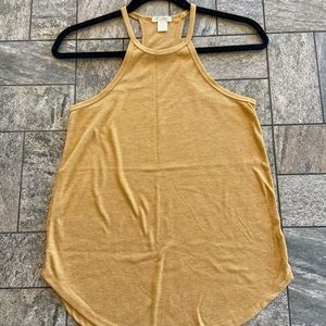 Yellow halter top tank